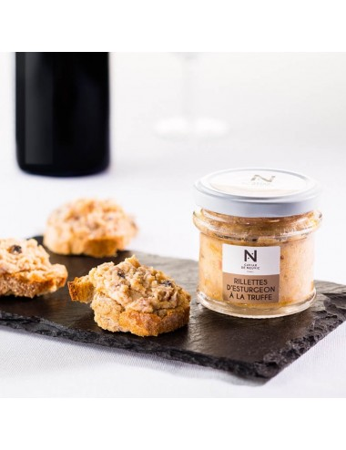 Sturgeon rillettes with truffle
